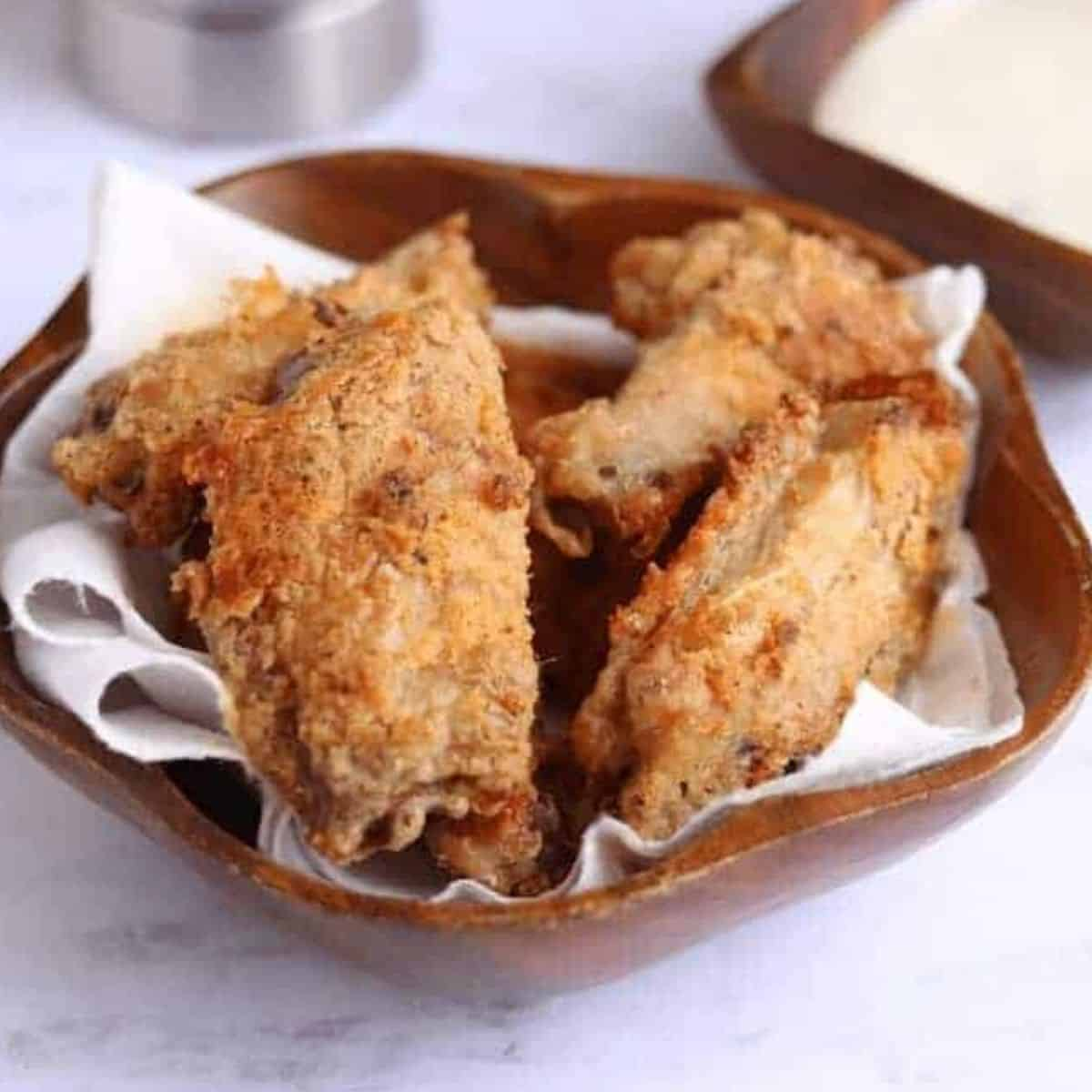 Easy Crispy Air Fried Breaded Chicken Wings