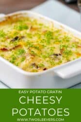 Pinterest graphic for cheesy potatoes