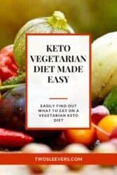 Pinterest graphic. Vegetarian keto diet