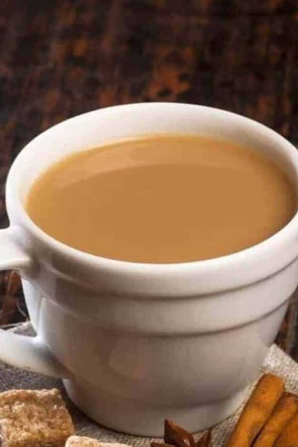 Masala Chai in a white cup