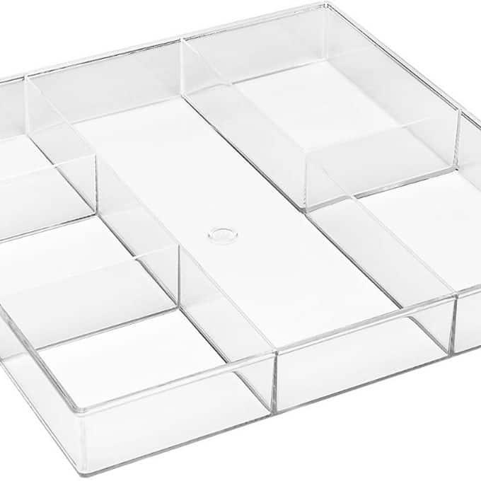 plastic divider tray