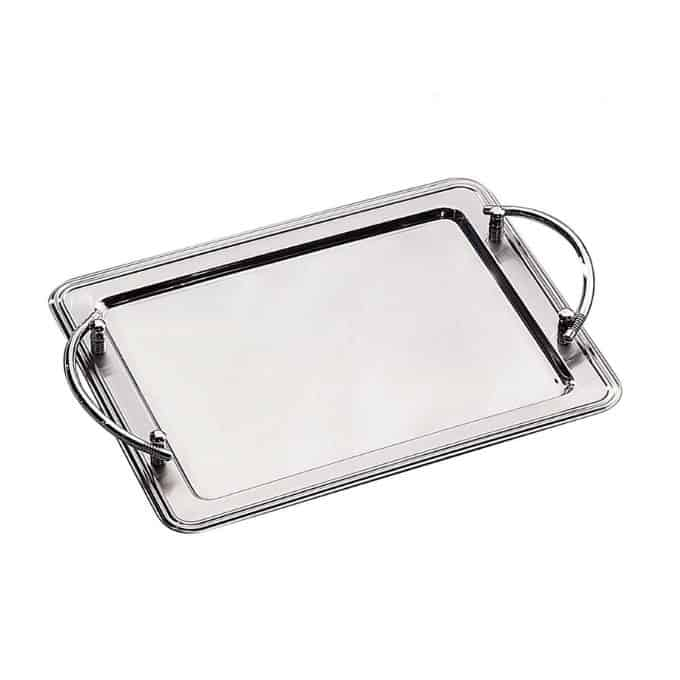 rectangle stainless steel tray with handles