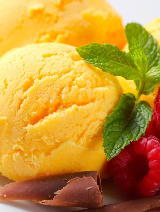 how to make frozen yogurt mango flavored