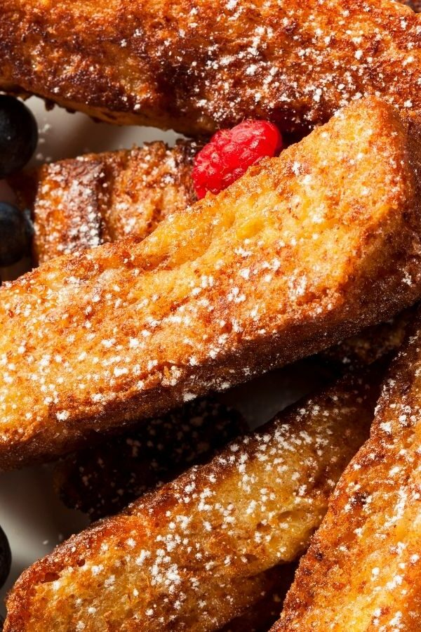 Air Fryer French Toast Closeup