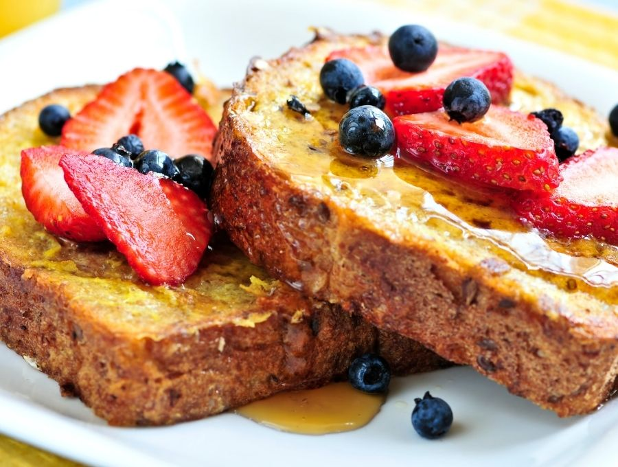 Air Fryer French Toast with Fruit