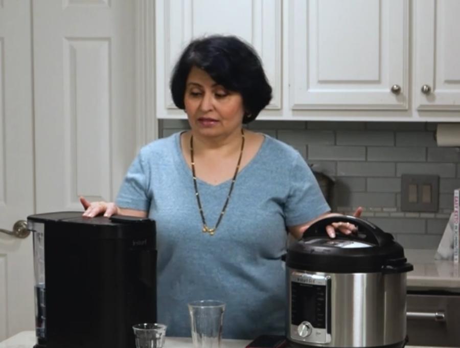 Urvashi Pitre comparing an Instant Pod to a 6 quart Instant Pot
