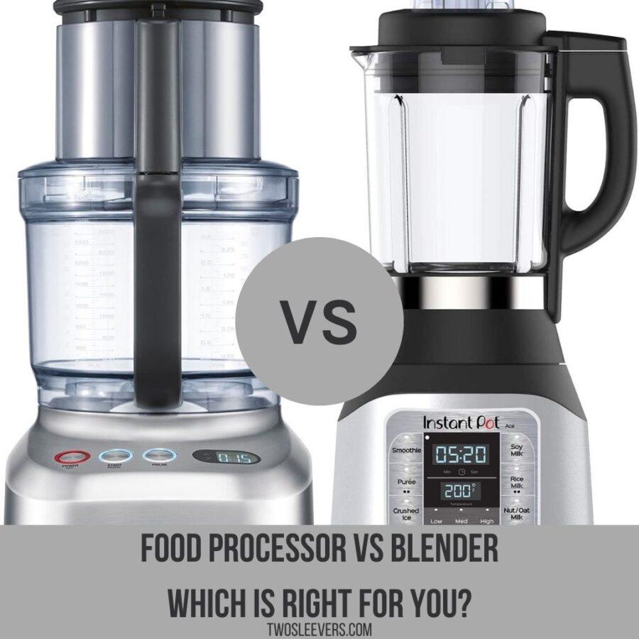 Food processor Vs Blender graphic
